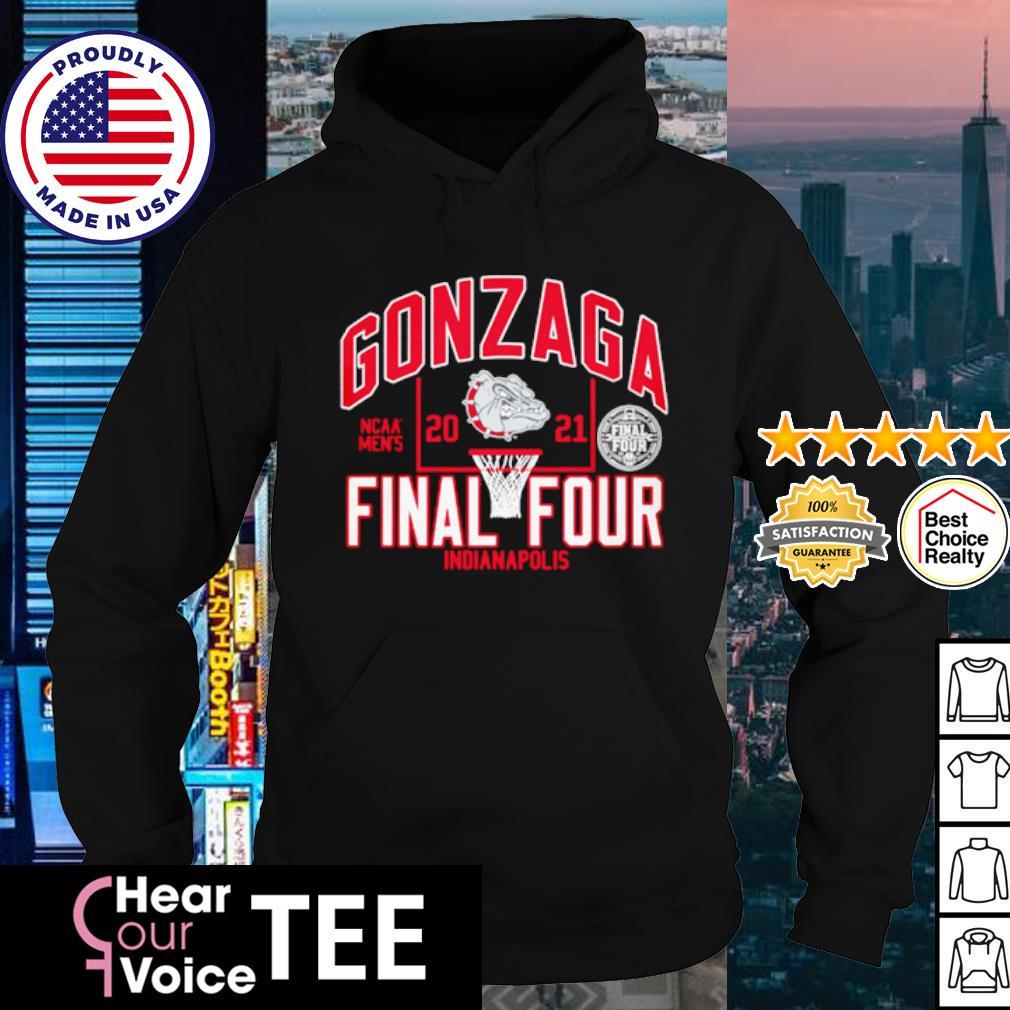Dark Grey Heather Large NCAA Gonzaga Bulldogs Adult Women W Cozy Hood