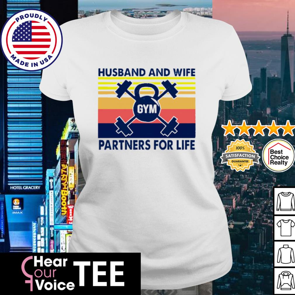 Husband And Wife Partners For Life Vintage s ladies tee