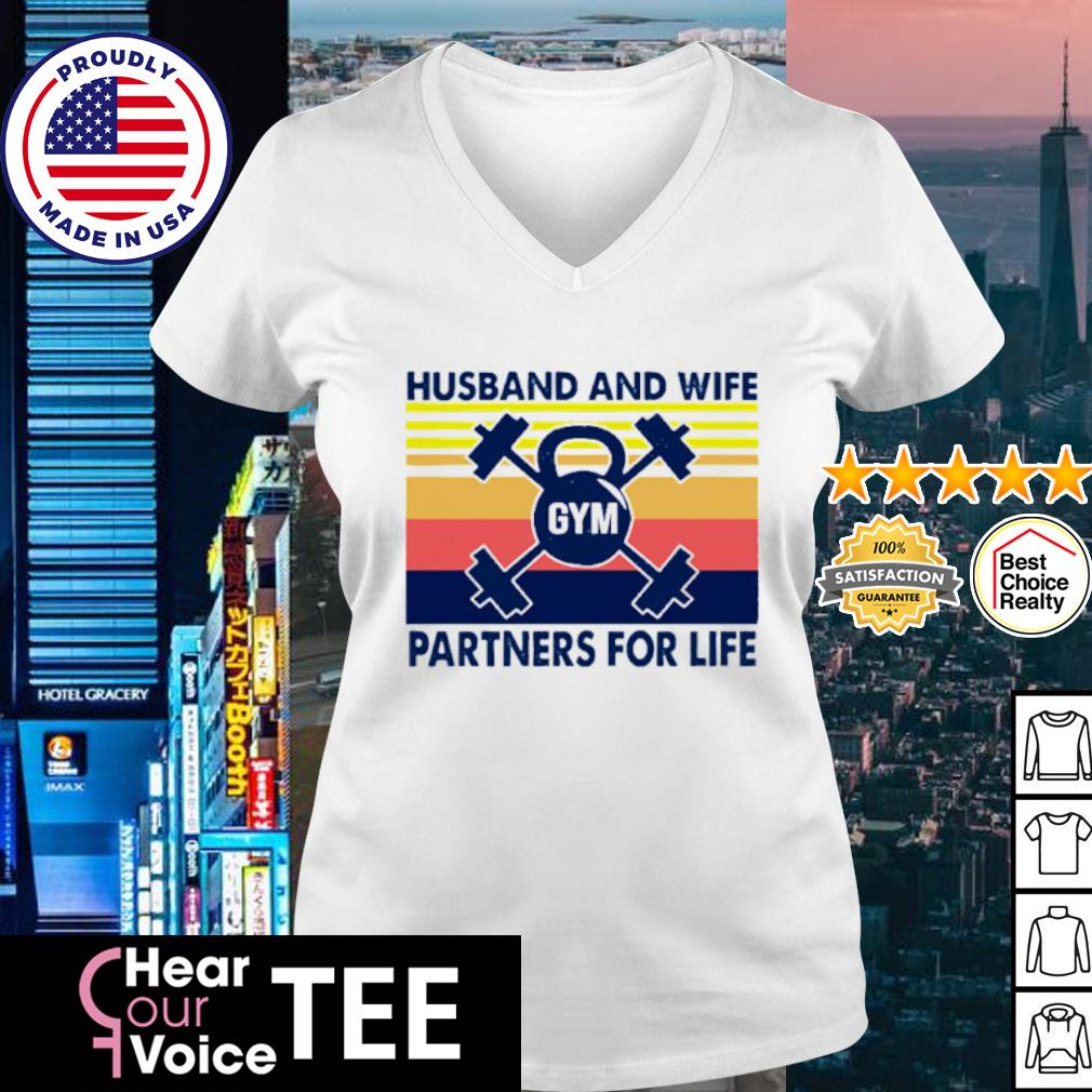 Husband And Wife Partners For Life Vintage s v-neck t-shirt