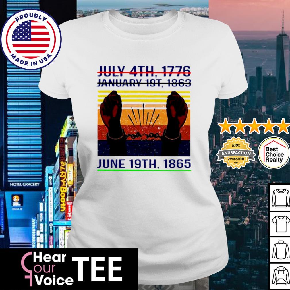 July 4th 1776 January 1st 1963 June 19th 1985 Vintage Shirt ladies tee