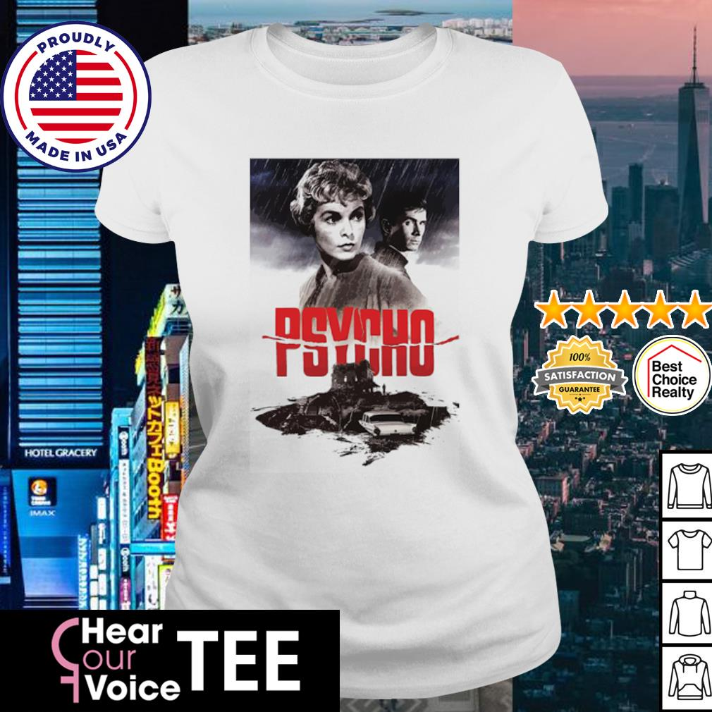 Psycho Janet Leigh and Anthony Perkins movies poster s ladies tee
