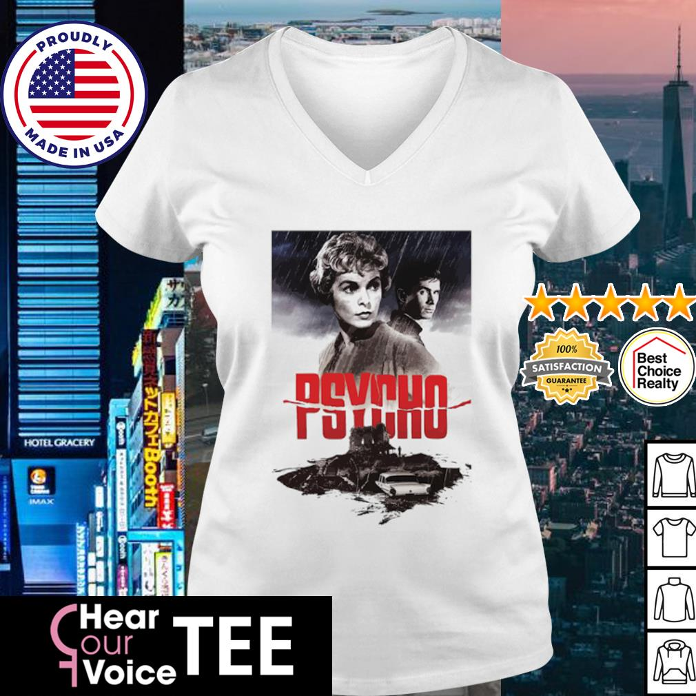 Psycho Janet Leigh and Anthony Perkins movies poster s v-neck t-shirt