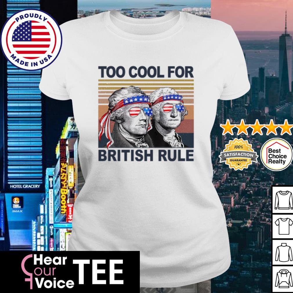 Vintage Alexander Hamilton and George Washington too cool for British rule s ladies tee