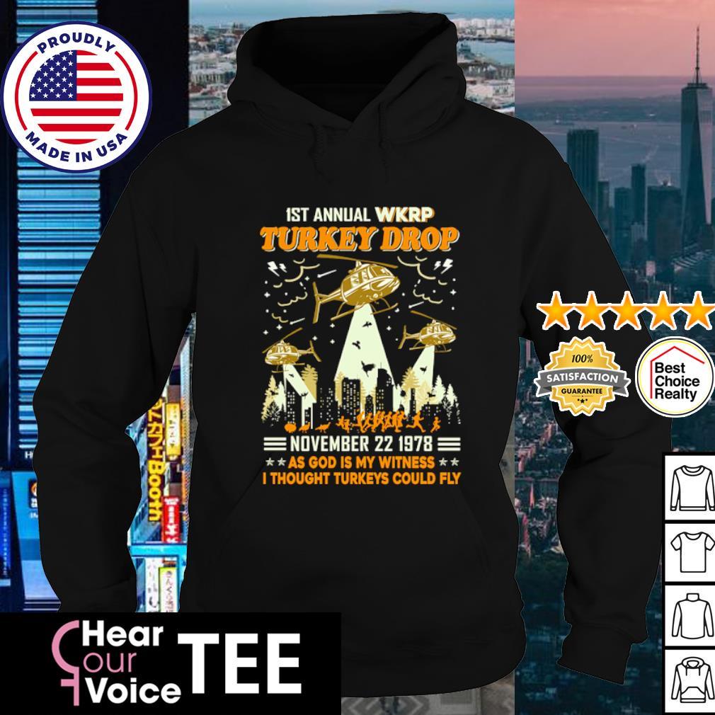 1st annual WKRP turkey drop November 22 1978 s hoodie