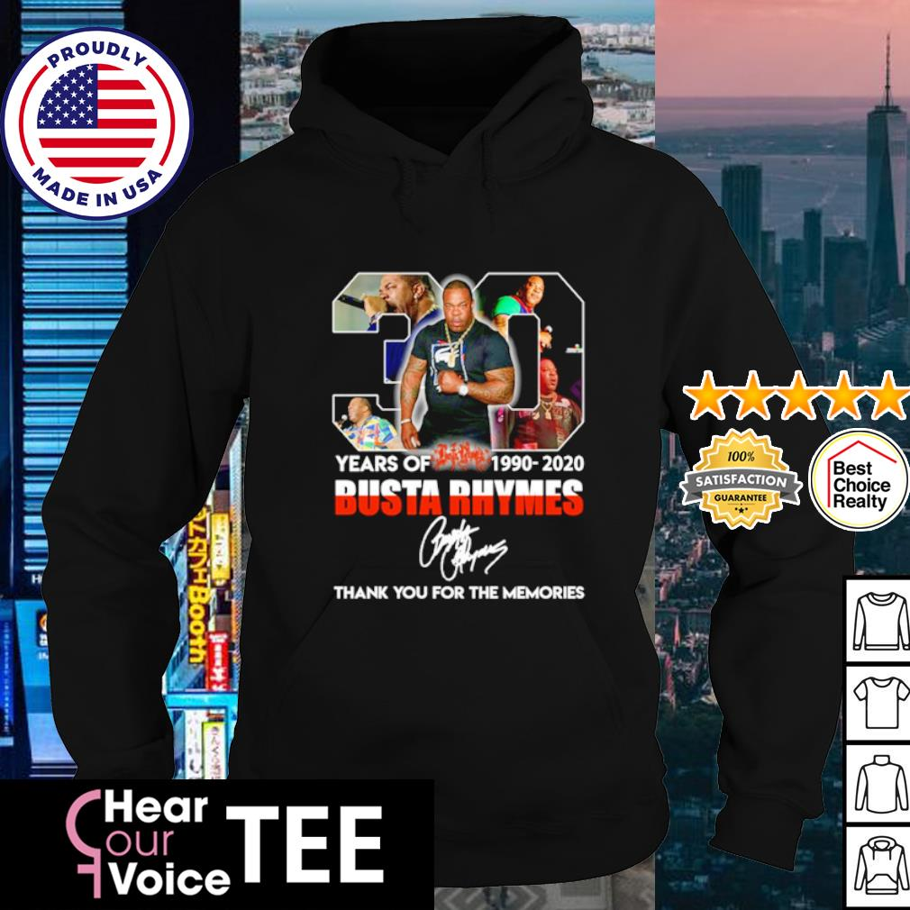 30 years of Busta Rhymes 1990 2020 thank you for the memories s hoodie