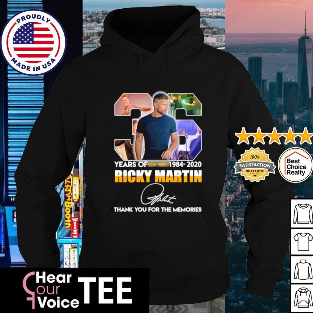 36 years of Ricky Martin 1084 2020 thank you for the memories s hoodie