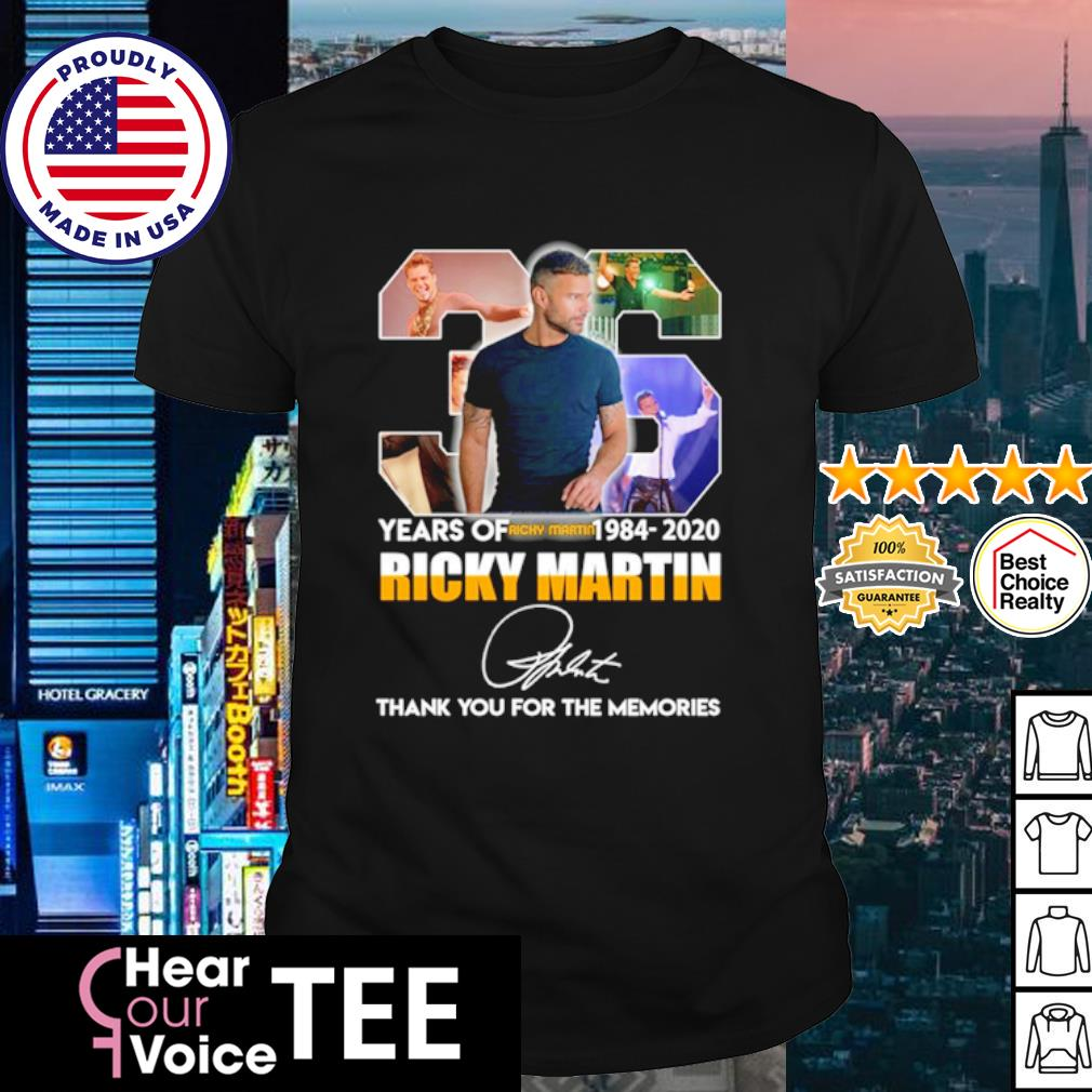36 years of Ricky Martin 1084 2020 thank you for the memories shirt