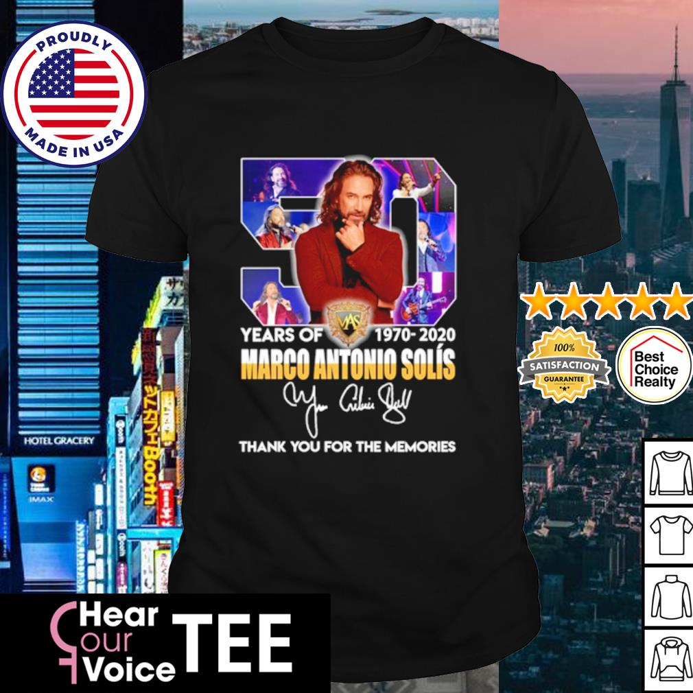 50 years of Marco Antonio Solís 1970 2020 thank you for the memories shirt