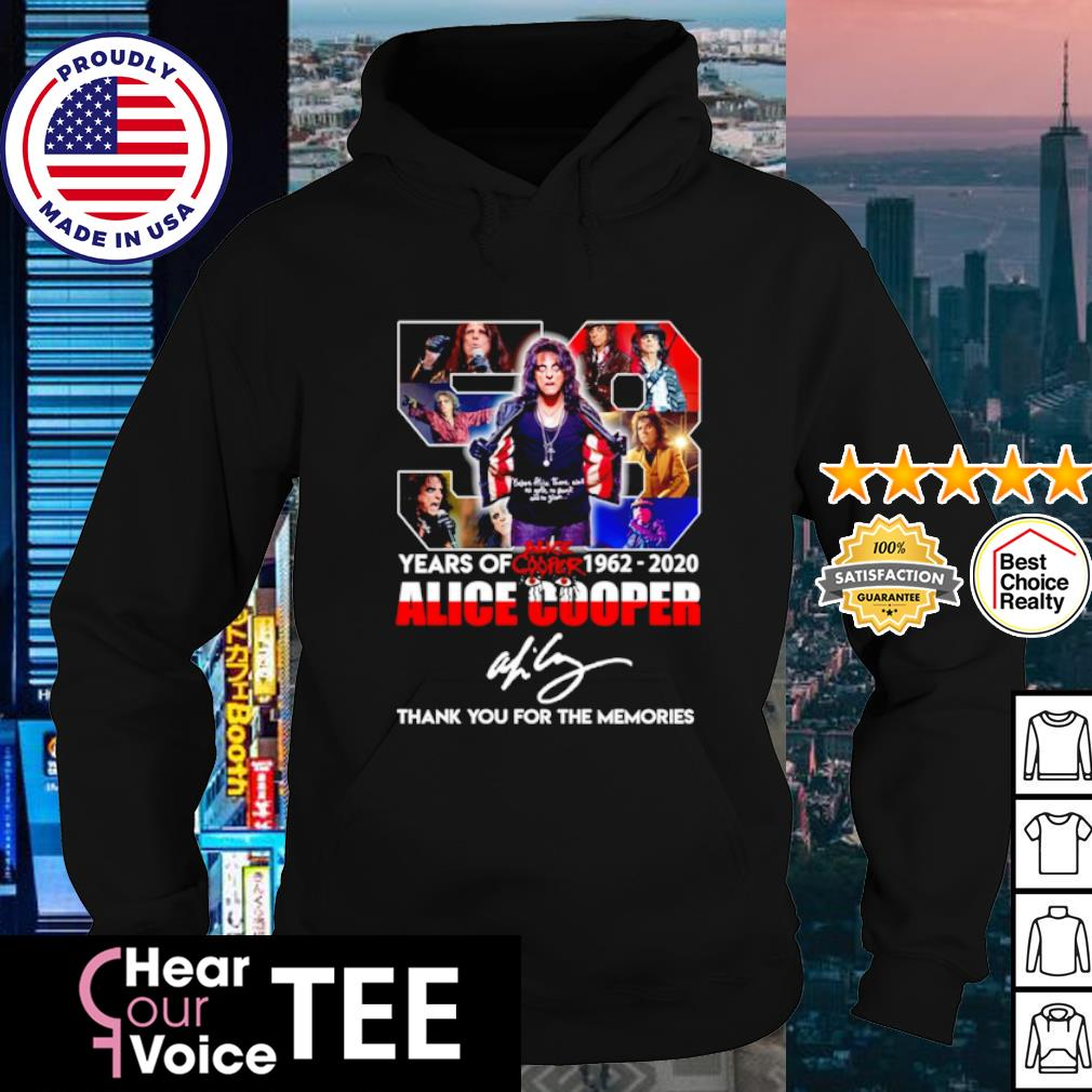58 years of Alice Cooper 1962 2020 thank you for the memories s hoodie
