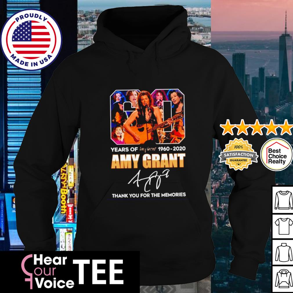 60 years of Amy Grant 1960 2020 signature thank you for the memories s hoodie
