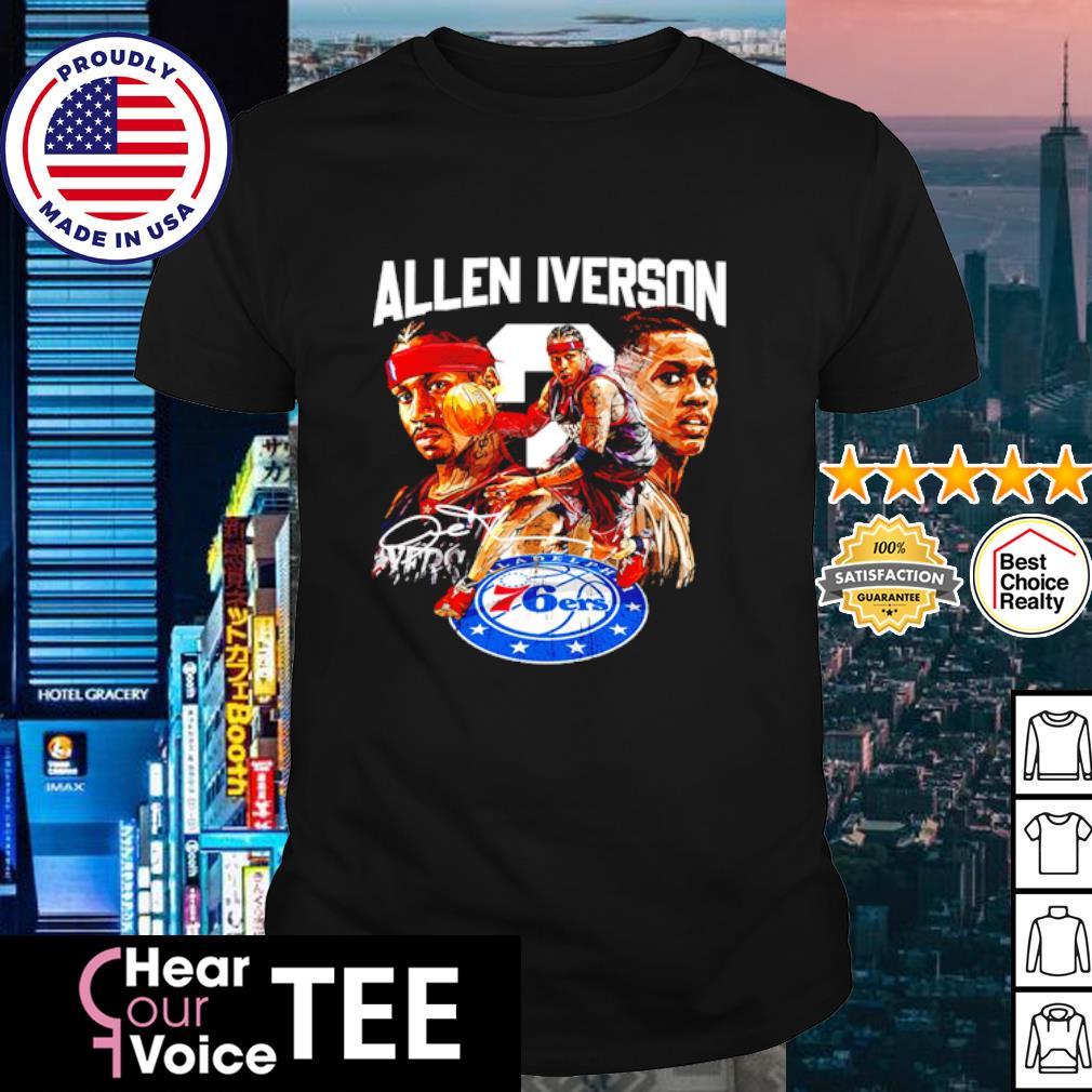 Allen Iverson 76ers signature shirt