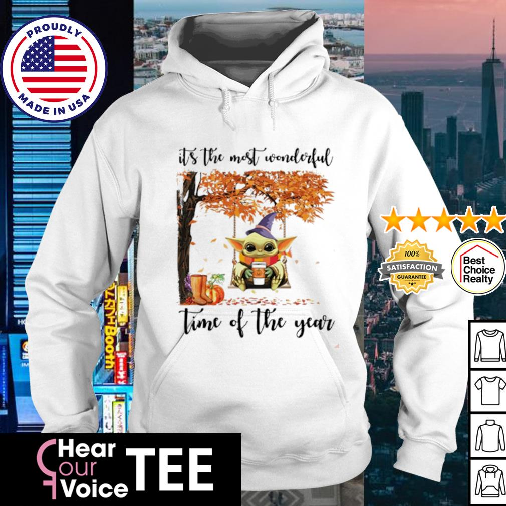 Baby Yoda Halloween autumn Baby Yoda it's the most wonderful time of the year s hoodie