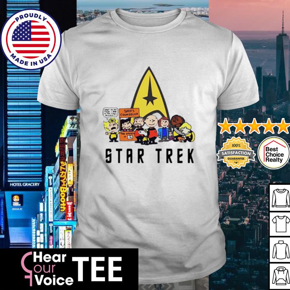 Charlie Brown Snoopy Star Trek shirt