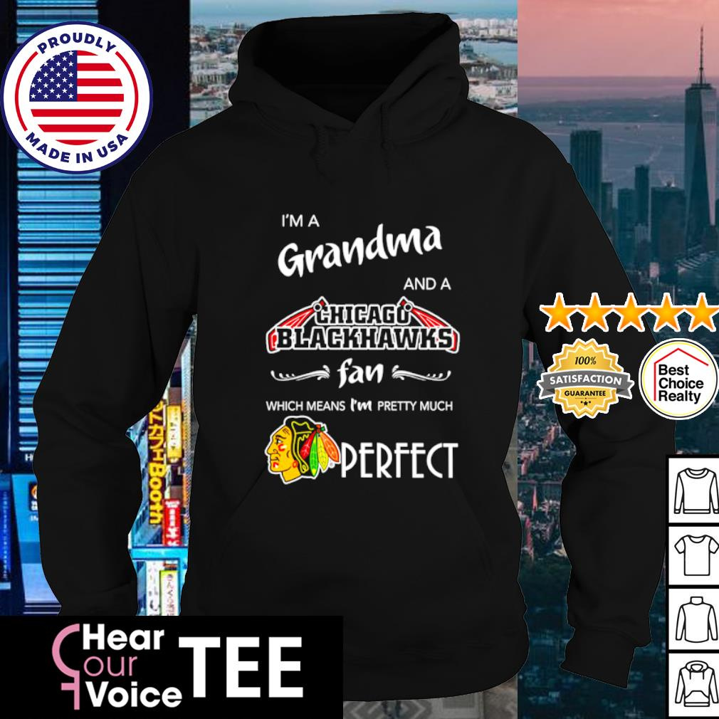 I'm a Grandma and a Chicago Blackhawks fan which means I'm pretty much perfect s hoodie