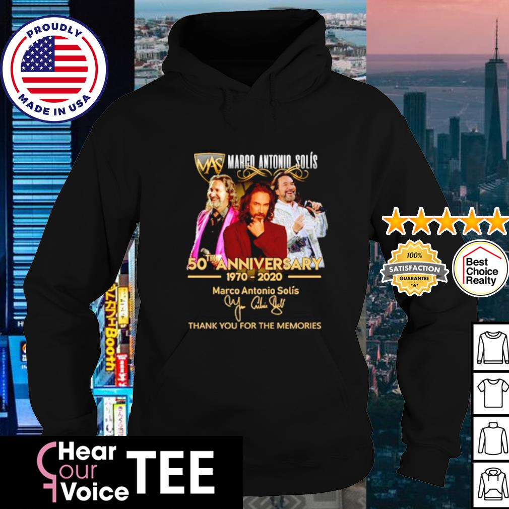 Marco Antonio Solís 50th anniversary 1970 2020 thank you for the memories s hoodie