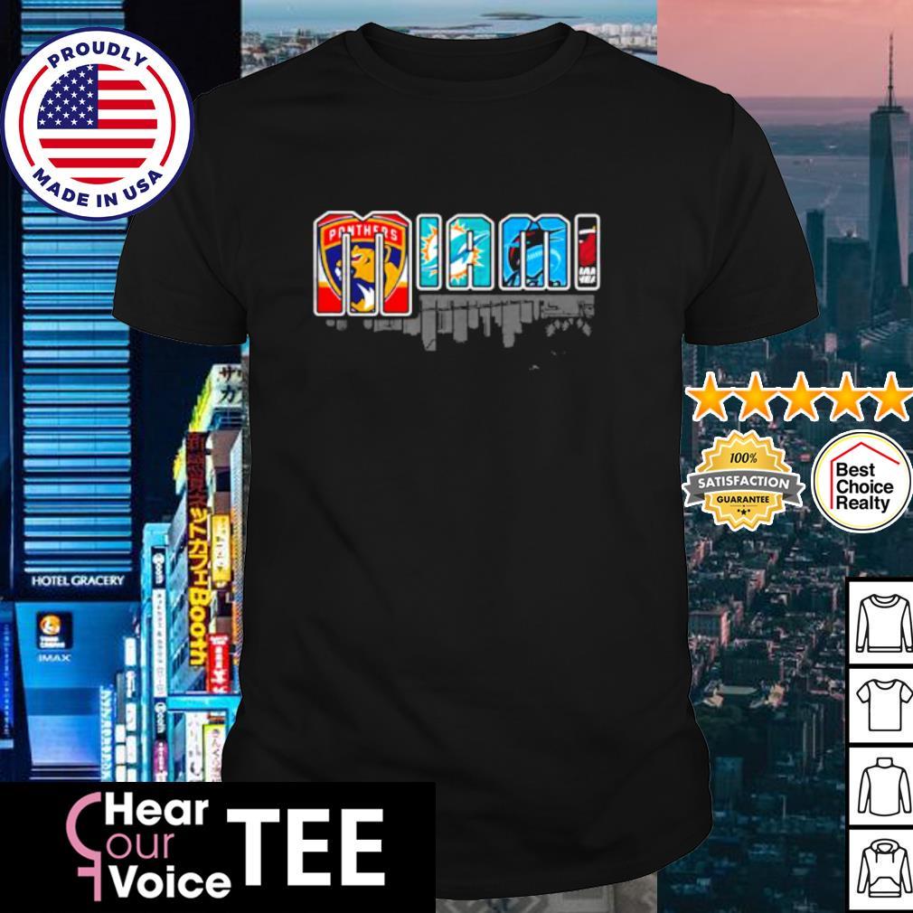 Miami city top sport teams shirt