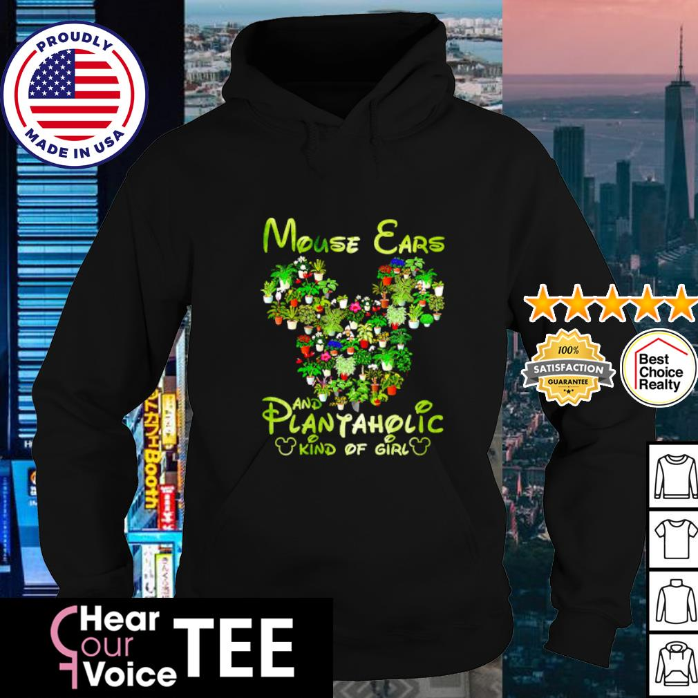 Mouse ears and plantaholic kind of girl s hoodie