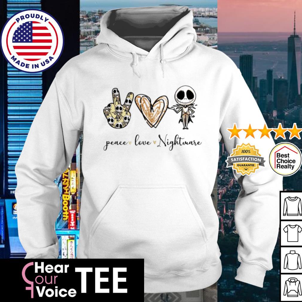 Peace Love Nightmare Jack Skekkington s hoodie