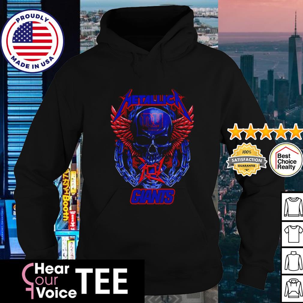 Skull metallica new york giants logo s hoodie