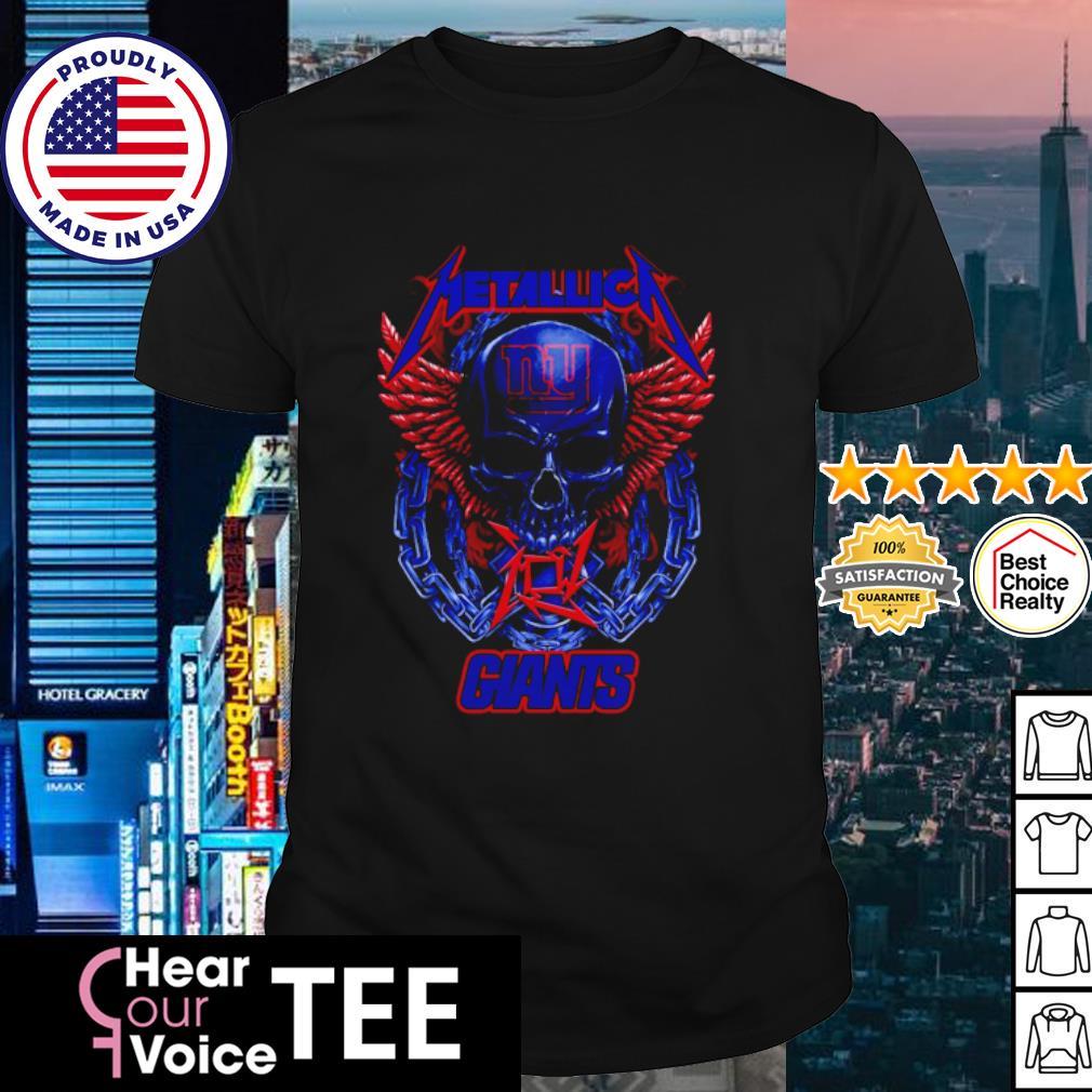 Skull metallica new york giants logo shirt