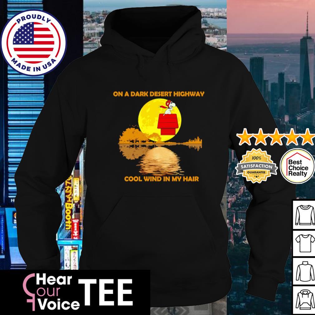 Snoopy on a dark desert highway cool wind in my hair s hoodie
