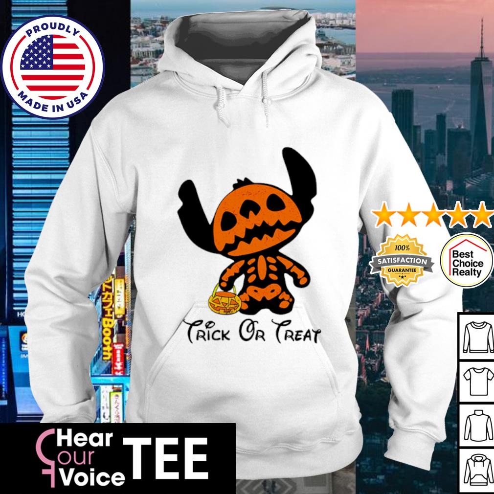 Stitch trick or treat happy Halloween s hoodie
