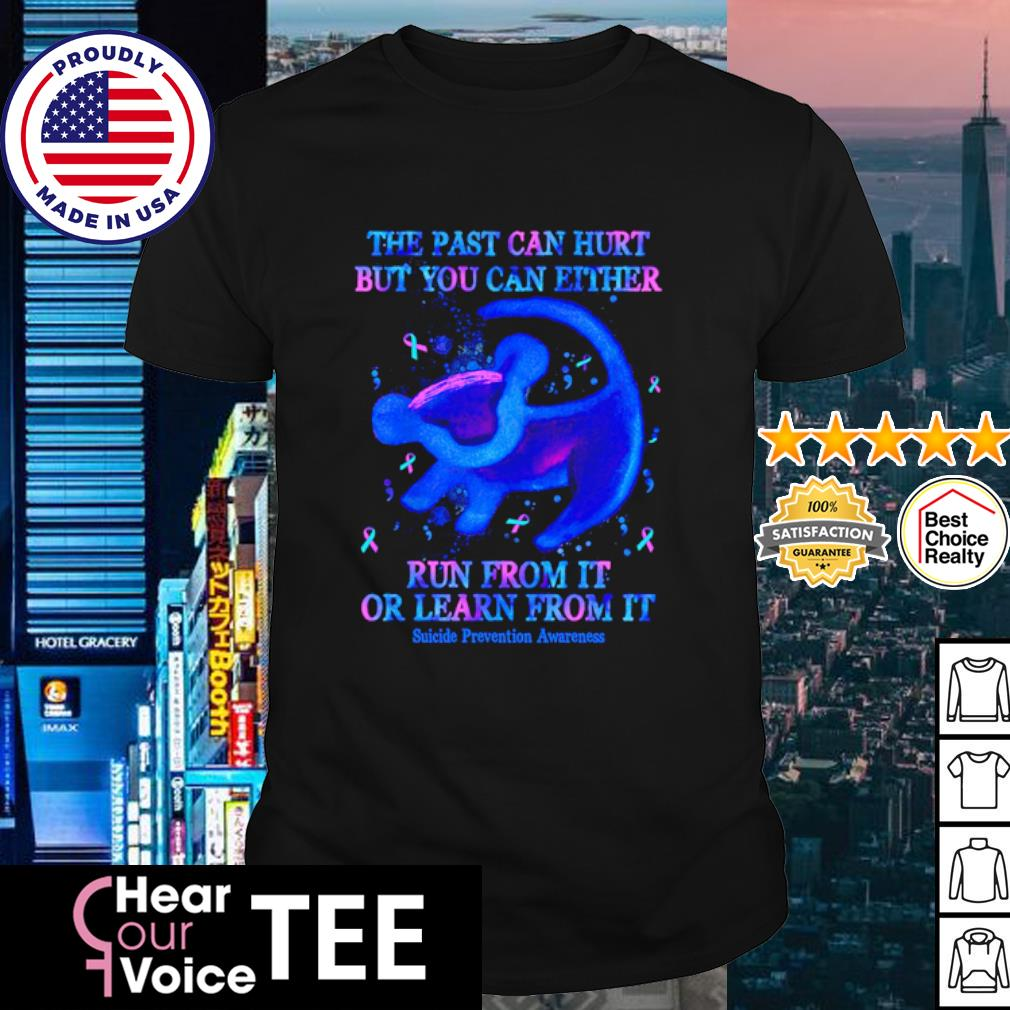 The past can hurt but you can either run from it or learn from it shirt