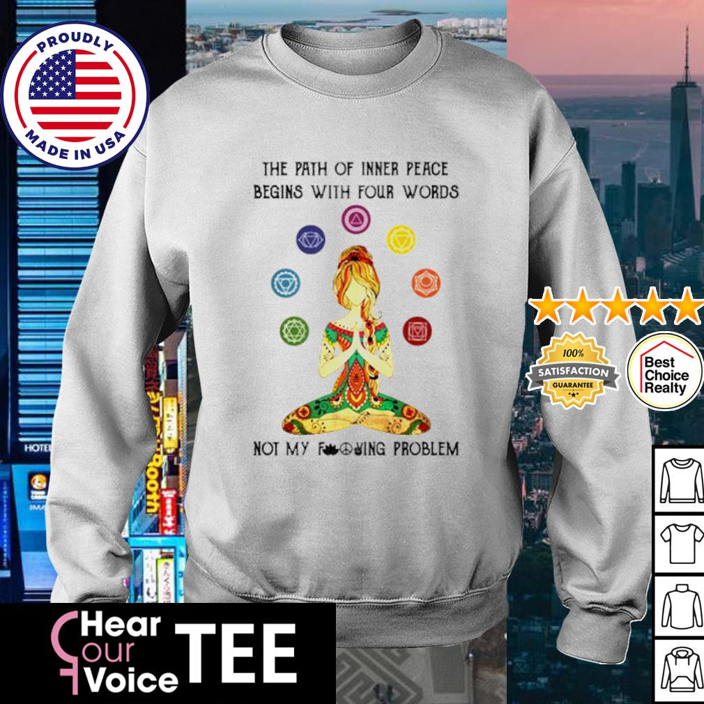 Yoga girl the path of inner peace begins with four words s sweater