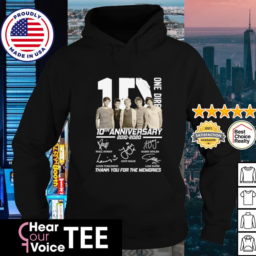 1D One Riresion 10th anniversary 2010 2020 thank you for the memories s hoodie