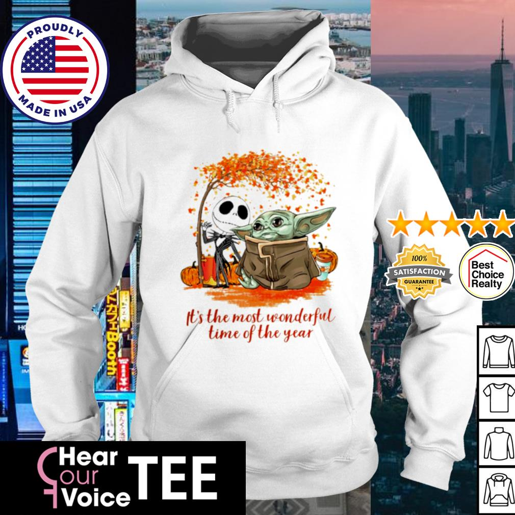 Baby Yoda and Jack Skellington it_s the most wonderful time of the year Halloween s hoodie
