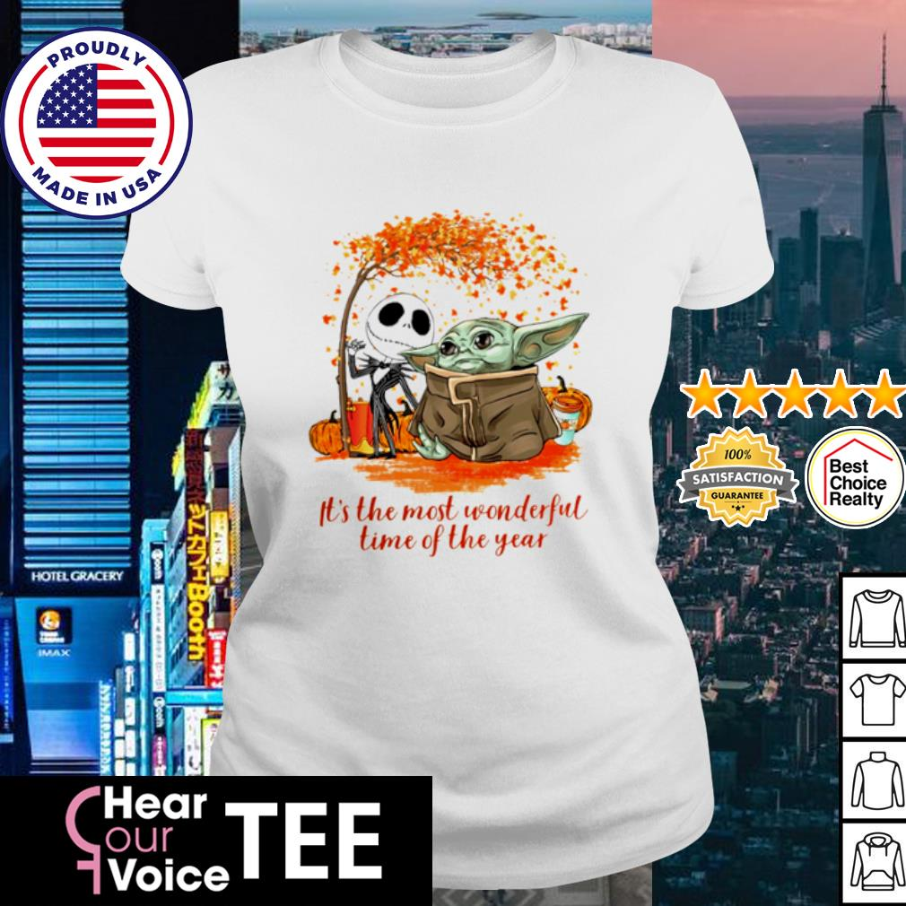 Baby Yoda and Jack Skellington it_s the most wonderful time of the year Halloween s ladies tee