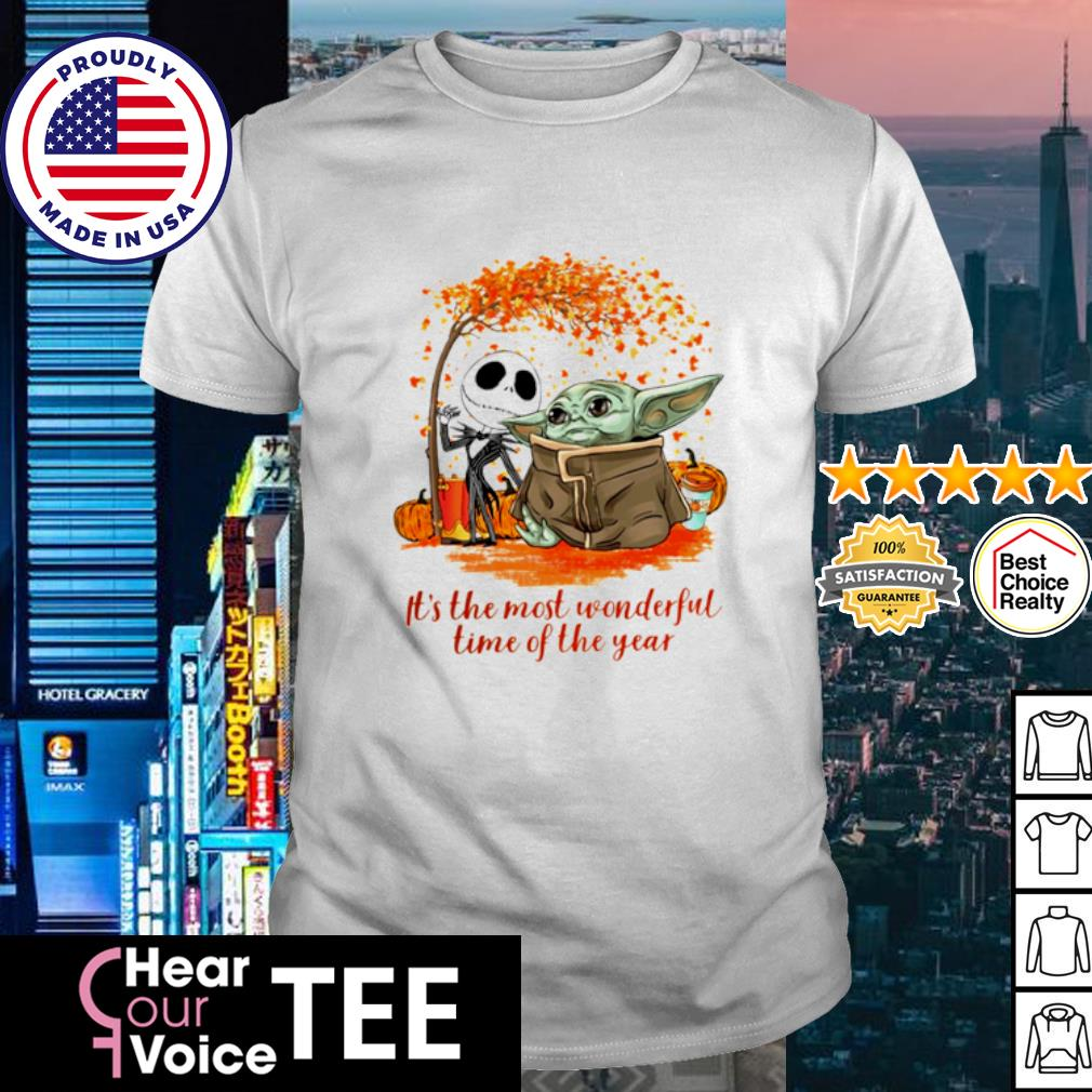 Baby Yoda and Jack Skellington it_s the most wonderful time of the year Halloween shirt