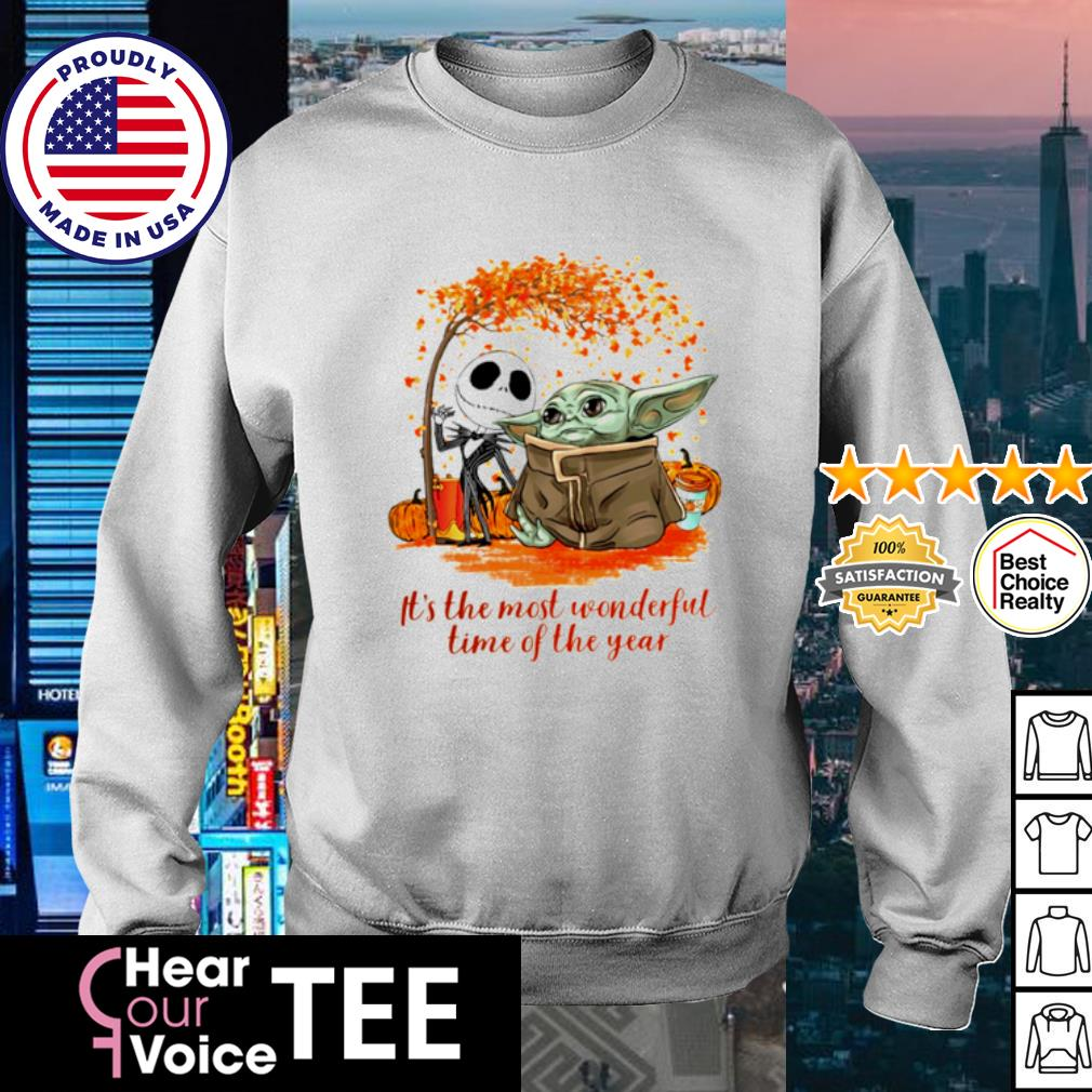 Baby Yoda and Jack Skellington it_s the most wonderful time of the year Halloween s sweater
