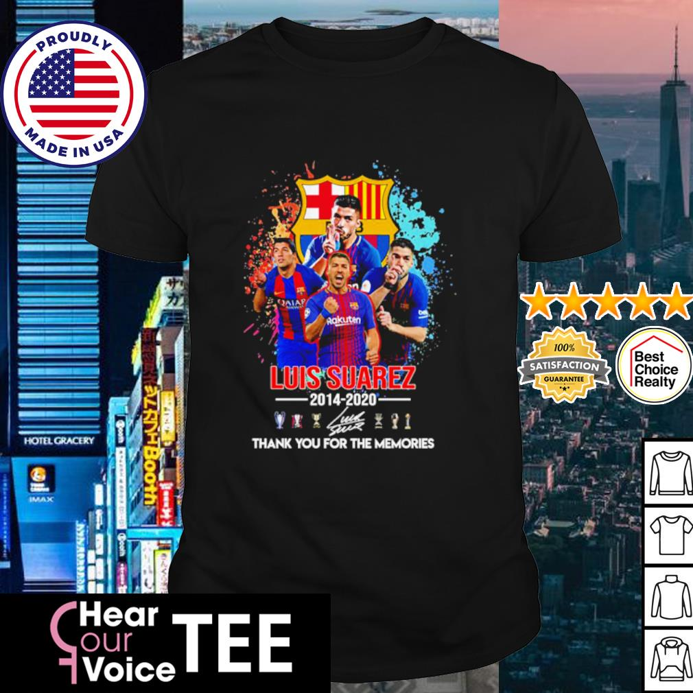 Barcelona Luis Suarez 2014 2020 thank you for the memories shirt