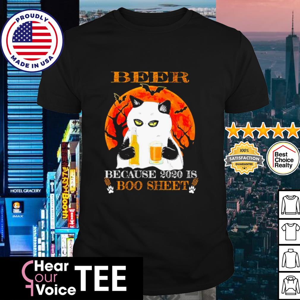 Black cat beer because 2020 is boo sheet Halloween shirt
