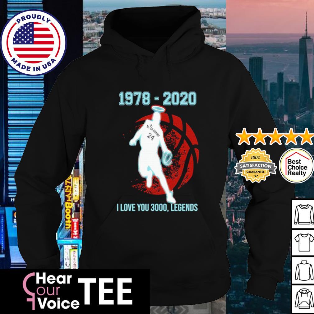 Black Mamba 1978 2020 I love you 3000 legends s hoodie