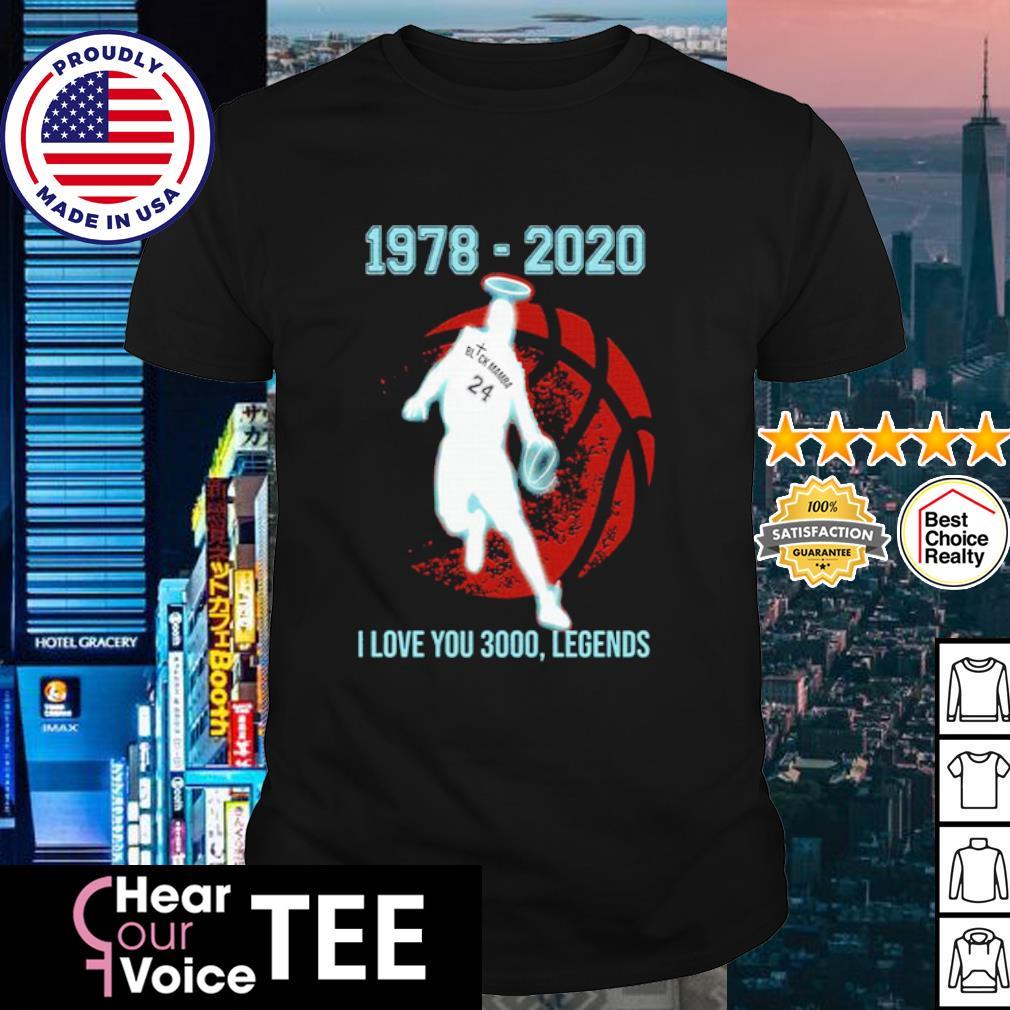 Black Mamba 1978 2020 I love you 3000 legends shirt