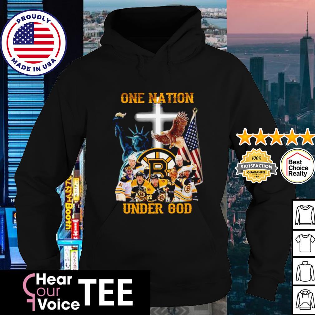 Boston Bruins one nation under god American flag s hoodie