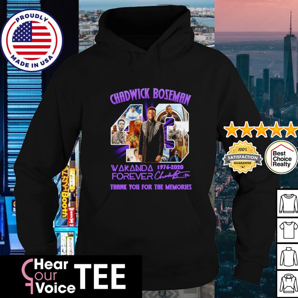 Chadwick Boseman 43 Wakanda forever 1976-2020 thank you for the memories s hoodie