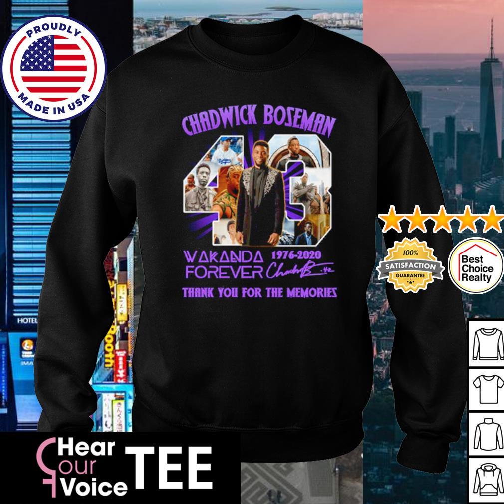 Chadwick Boseman 43 Wakanda forever 1976-2020 thank you for the memories s sweater
