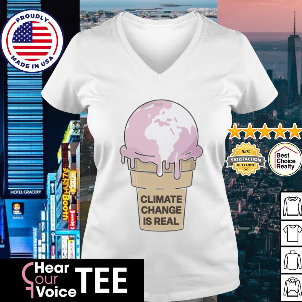Climate Change is Real Ice Cream s v-neck t-shirt