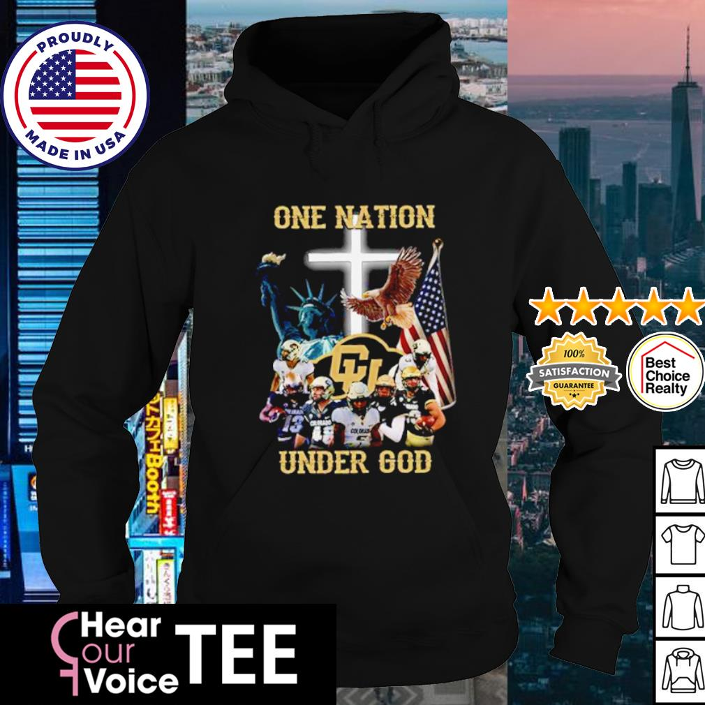Colorado Buffaloes one nation under god American flag s hoodie