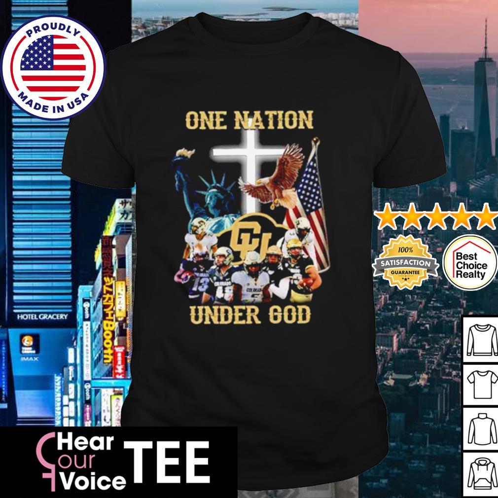 Colorado Buffaloes one nation under god American flag shirt