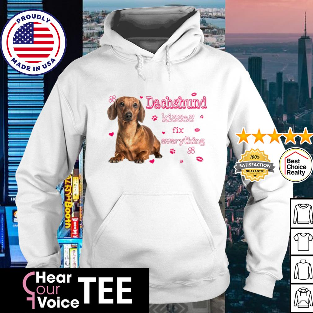 Dachshund kisses fix everything love s hoodie