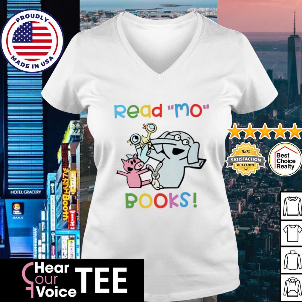 Elephant and Piggie Duckling read Mo books s v-neck t-shirt