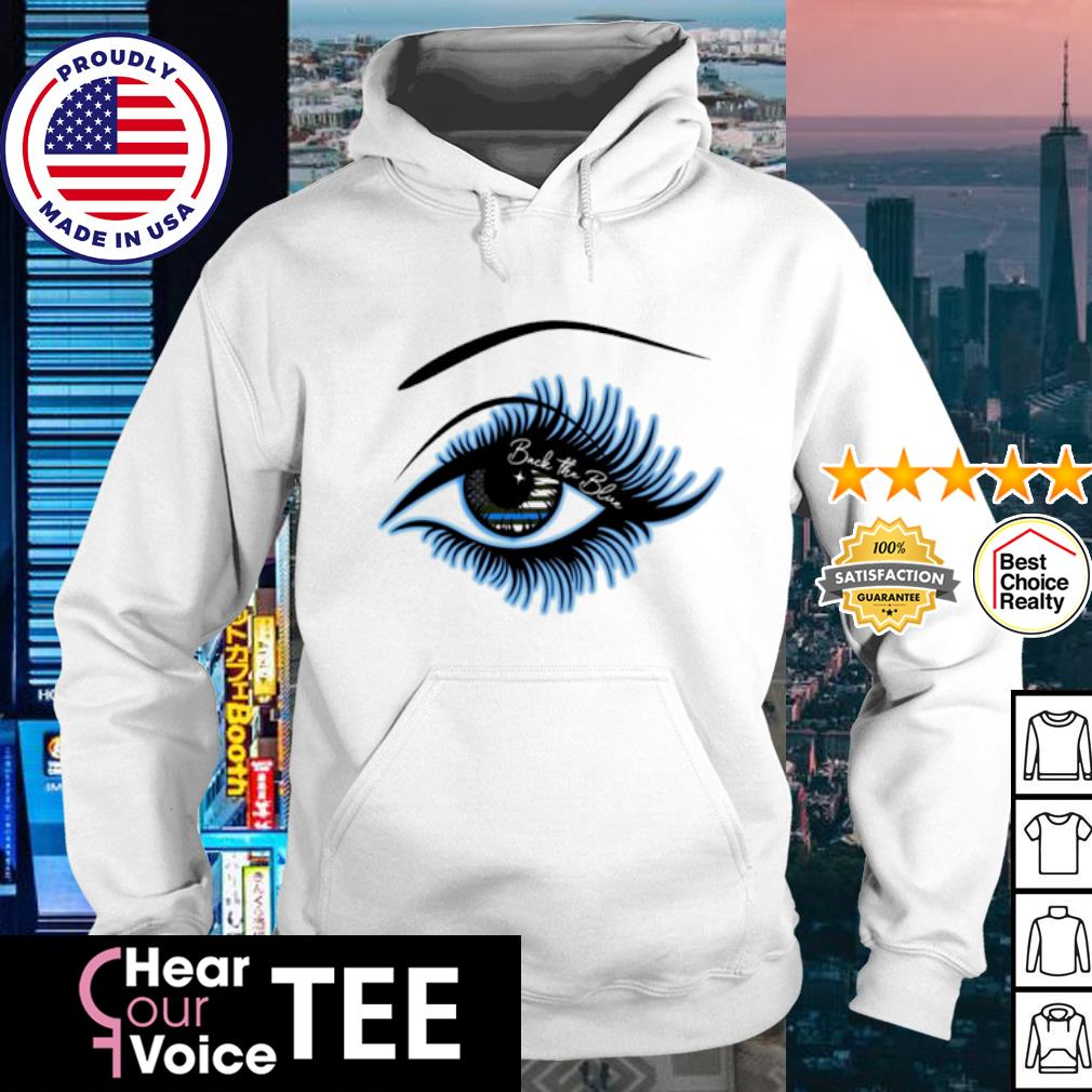 Eyes Amrican flag Brave the blue s hoodie