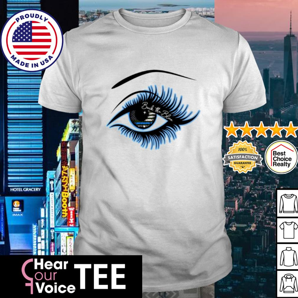 Eyes Amrican flag Brave the blue shirt