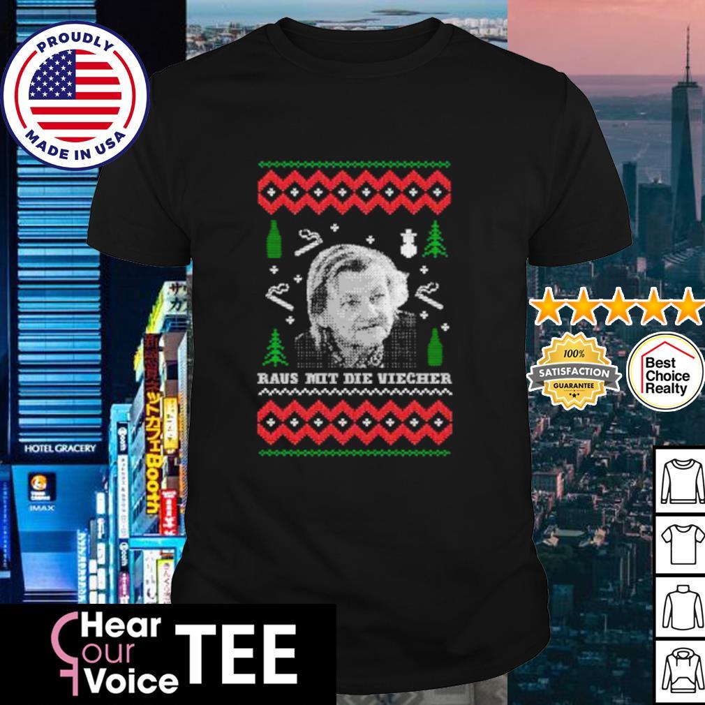 Familie Ritter Raus mit die viecher ugly Christmas shirt