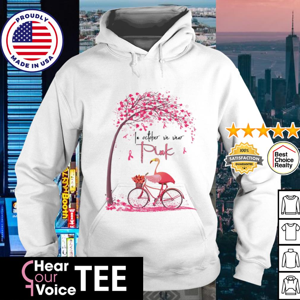 Flamingo In October we wear Pink Bicycle s hoodie