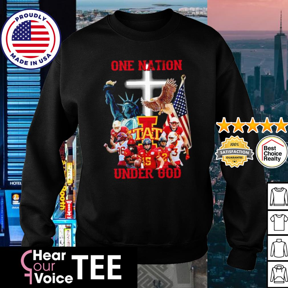 Iowa State Cyclones one nation under god American Flag s sweater